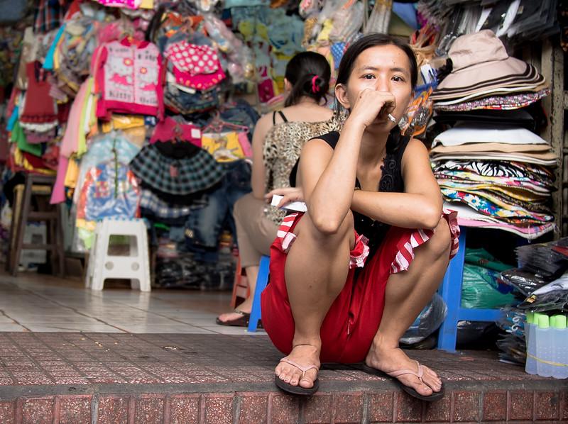 Taking a break, Tan Dinh Market