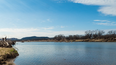 The Llano River, in our own backyard, looking downstream, south