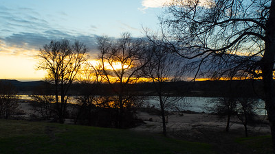 The Llano River, at Sunset, in our own backyard