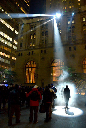 Soon 01. Nuit Blanche. Commerce Court. Toronto. October 2011.
