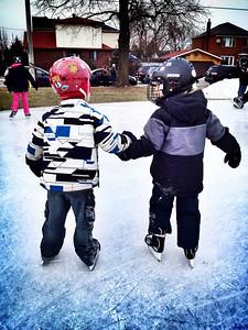 Skating buddies.