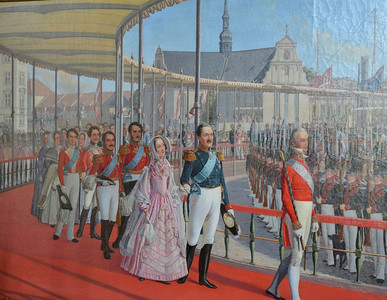 Royal Parade Painting at Rosenborg Castle