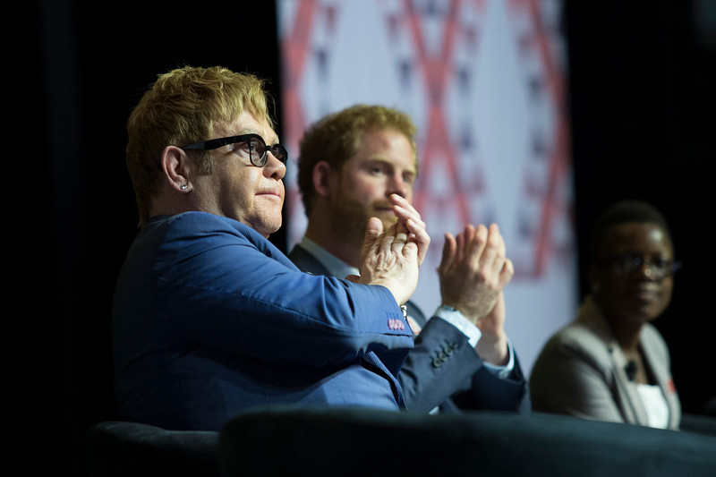 21st International AIDS Conference (AIDS 2016), Durban, South Africa.<br /> Special Session (THSS01)<br /> Ending AIDS with the Voices of the Youth: How Stigma and Discrimination Affect Key Populations<br /> Elton John and HRH Prince Harry, 21 July, 2016.<br /> Photo©International AIDS Society/Rogan Ward
