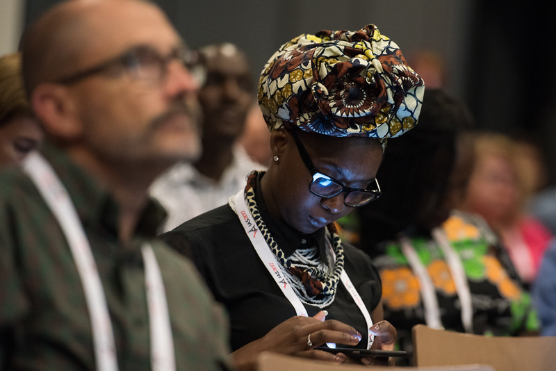 9th IAS Conference on HIV Science (IAS 2017) Paris, France. Copyright: Marcus Rose/IAS<br /> <br /> Photo shows:  #DoingTheRightThing: Addressing Stigma and Discrimination among Key Populations in Healthcare Settings (WESY07).