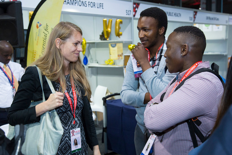 21st International AIDS Conference (AIDS 2016), Durban, South Africa. IAS Booth in Global Village. IAS Booth in Durban, 18 July, 2016. Photo©International AIDS Society/Rogan Ward)
