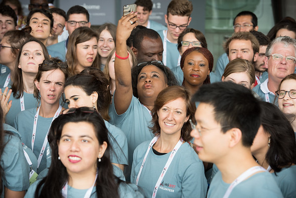 9th IAS Conference on HIV Science (IAS 2017) Paris, France. Copyright: Marcus Rose/IAS  Photo shows:  Volunteers.