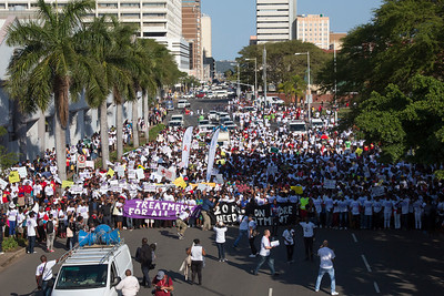 21st International AIDS Conference (AIDS 2016), Durban, South Africa. Photo shows TAC March through the Durban CBD, 18 July, 2016. Photo©International AIDS Society/Rogan Ward)