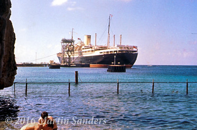 Curacao an island in the Nederland Antilles was usually the ships first stop for bunkering. Normally we berthed at the Shell refinery below the Fort Beekenburg, Caracas Bay.