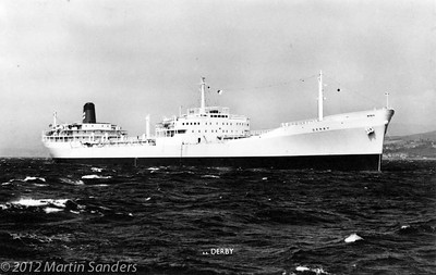 Derby was a big tanker in the early sixties. 31791 gt. Only five years old when I joined her, but was sold in 1968 as an outdated mini tanker.