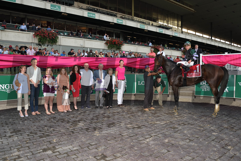 Diversify wins the 2017 Jockey Club Gold Cup.<br /> Coglianese Photos