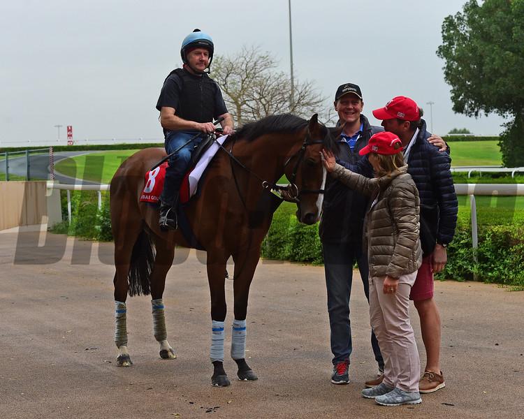 Dubai World Cup -Morning works 3/24/17, photo by Mathea Kelley/Dubai Racing Club<br /> Trip To Paris, Dubai Gold Cup