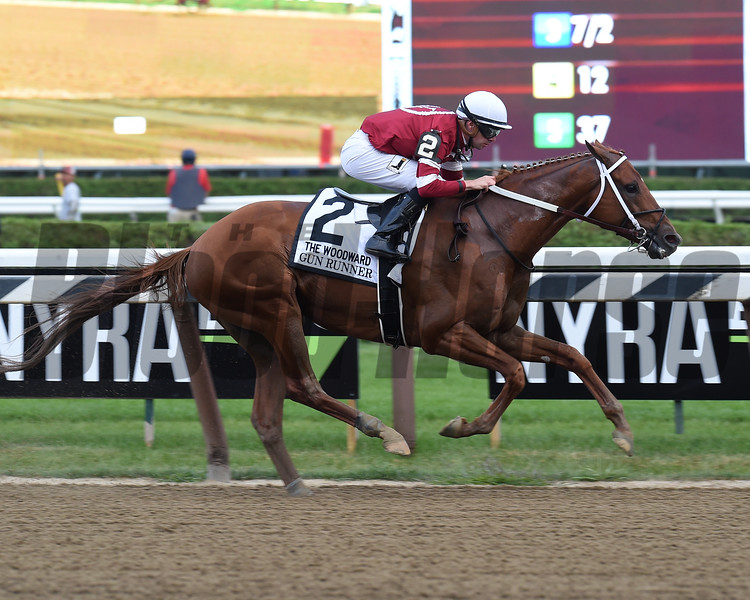 Gun Runner wins the 2017 Woodward<br /> Coglianese Photos/Chris Rahayel