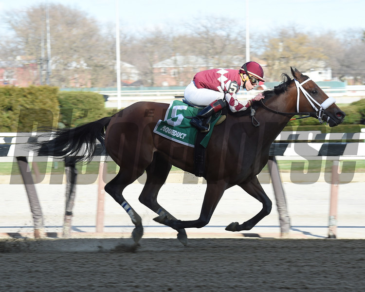 Mo' Green wins the Top Flight Invitational Stakes (G3) at Aqueduct on April 2, 2017