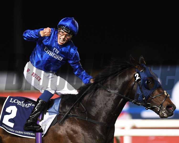 Dubai World Cup  3/25/17, photo by Mathea Kelley/Dubai Racing Club<br /> Jack Hobbs, William Buick up, win the Dubai Sheema Classic