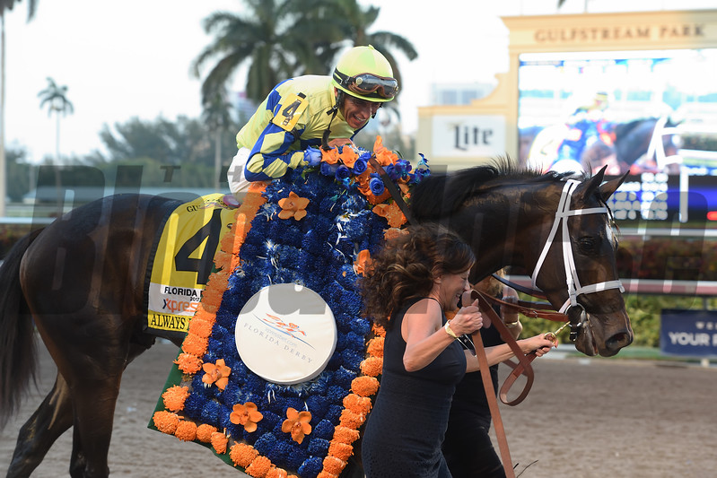 Always Dreaming wins the 2017 Florida Derby<br /> Coglianese Photos/Leslie Martin