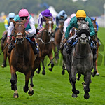 Coronet, Olivier Peslier win the Group 2 Ribblesdale Stakes over Mori and Pat Smullen, Royal Ascot, Ascot, UK, 6/22/17, photo by Mathea Kelley