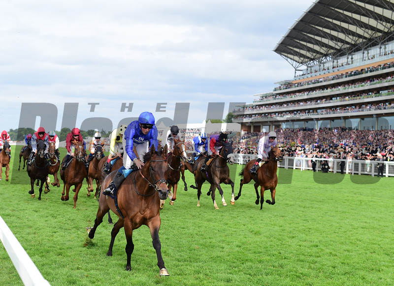 Rare Rhythm and William Buick win the Duke of Edinburough Stakes, Royal Ascot, Ascot, UK, photo by Mathea Kelley 6/23/17