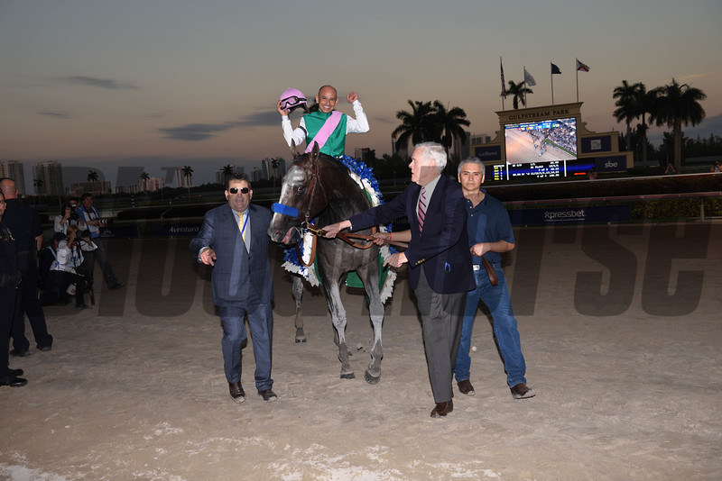 Arrogate wins the 2017 Pegasus World Cup<br /> Coglianese Photos
