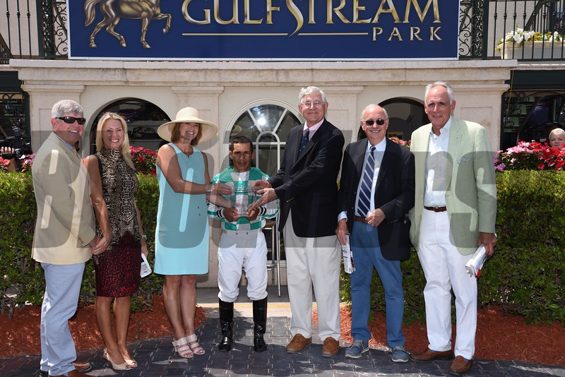 Summersault wins the Orchid Stakes (G3T) at Gulfstream Park on April 1, 2017