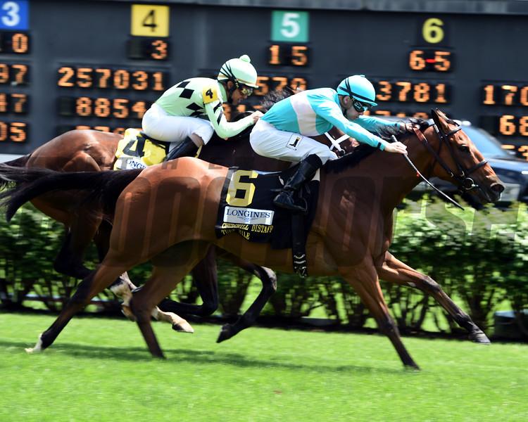 Roca Rojo wins the Churchill Distaff Turf Mile<br /> Dave Harmon Photo
