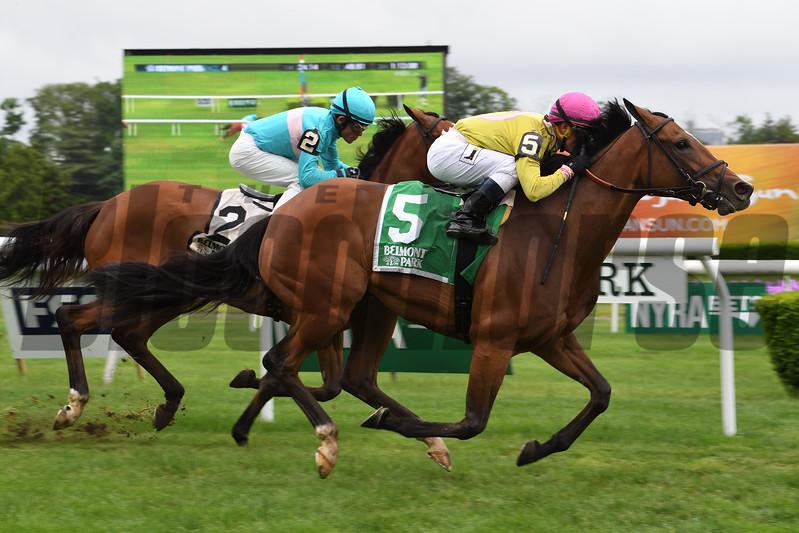 Fourstar Crook wins the 2017 Mount Vernon Stakes