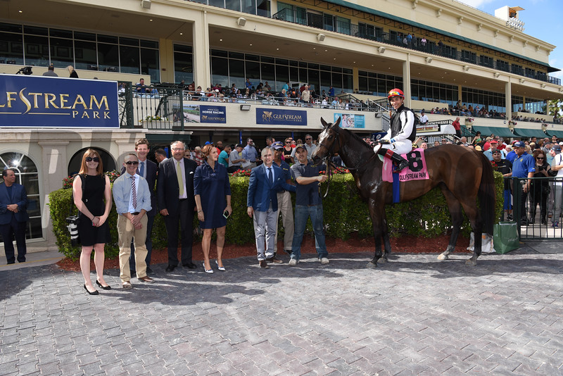 Celestine wins the 2017 Sand Springs Stakes<br /> Coglianese Photos