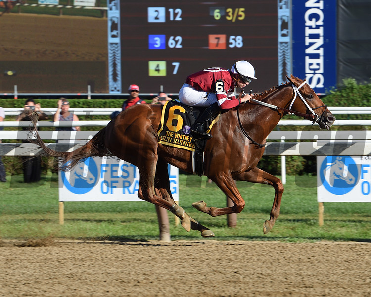 Gun Runner wins the 2017 Whitney<br /> Coglianese Photos/Susie Raisher
