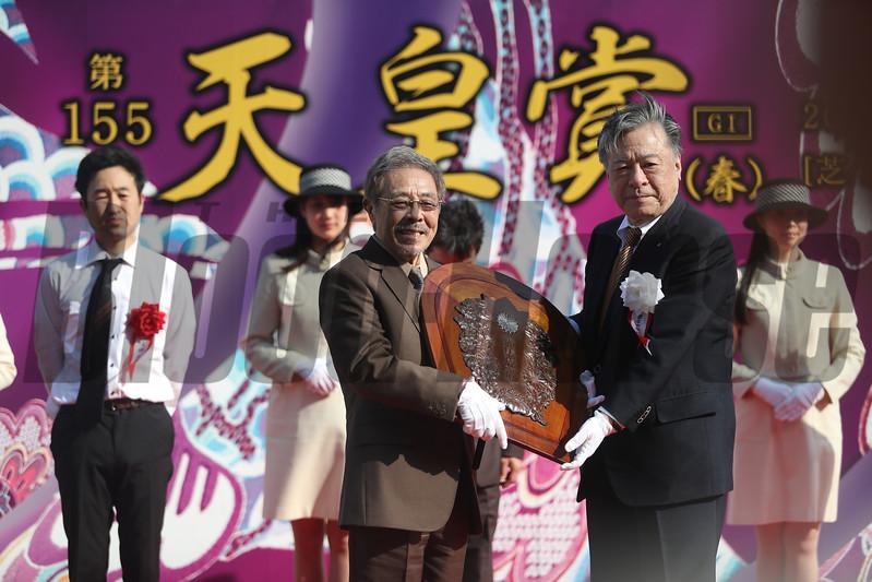 Kitasan Black wins the Tenno Sho Spring (G1) at Kyoto on April 30 2017