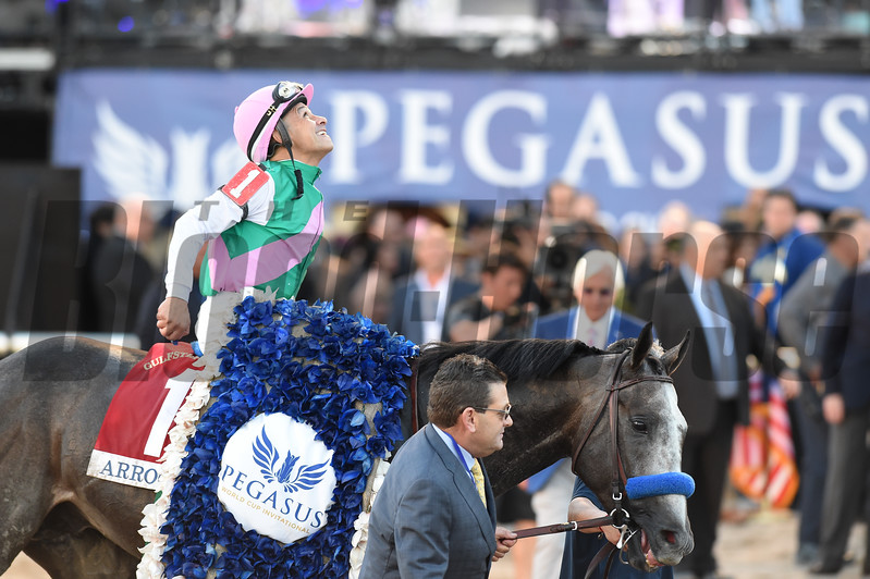Arrogate wins the 2017 Pegasus World Cup<br /> Coglianese Photos/Adam Mooshian