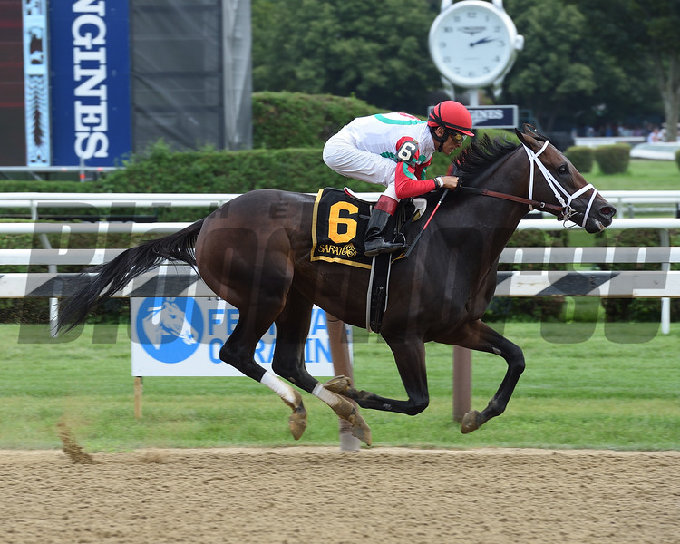 Rally Cry wins the 2017 Alydar Stakes