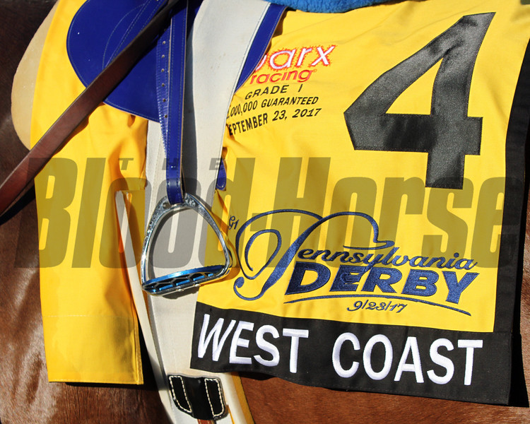 West Coast Saddle Cloth Pennsylvania Derby Parx Chad B. Harmon