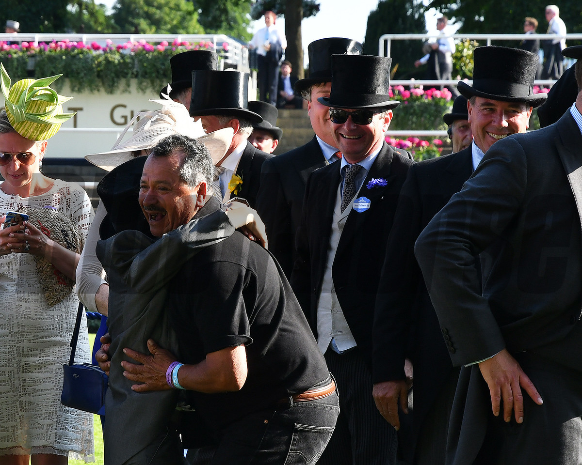 Con Te Partiro and Jamie Spencer win the Sandringham Handicap Stakes, Royal Ascot, Ascot, UK 6/21/17, photo by Mathea Kelley