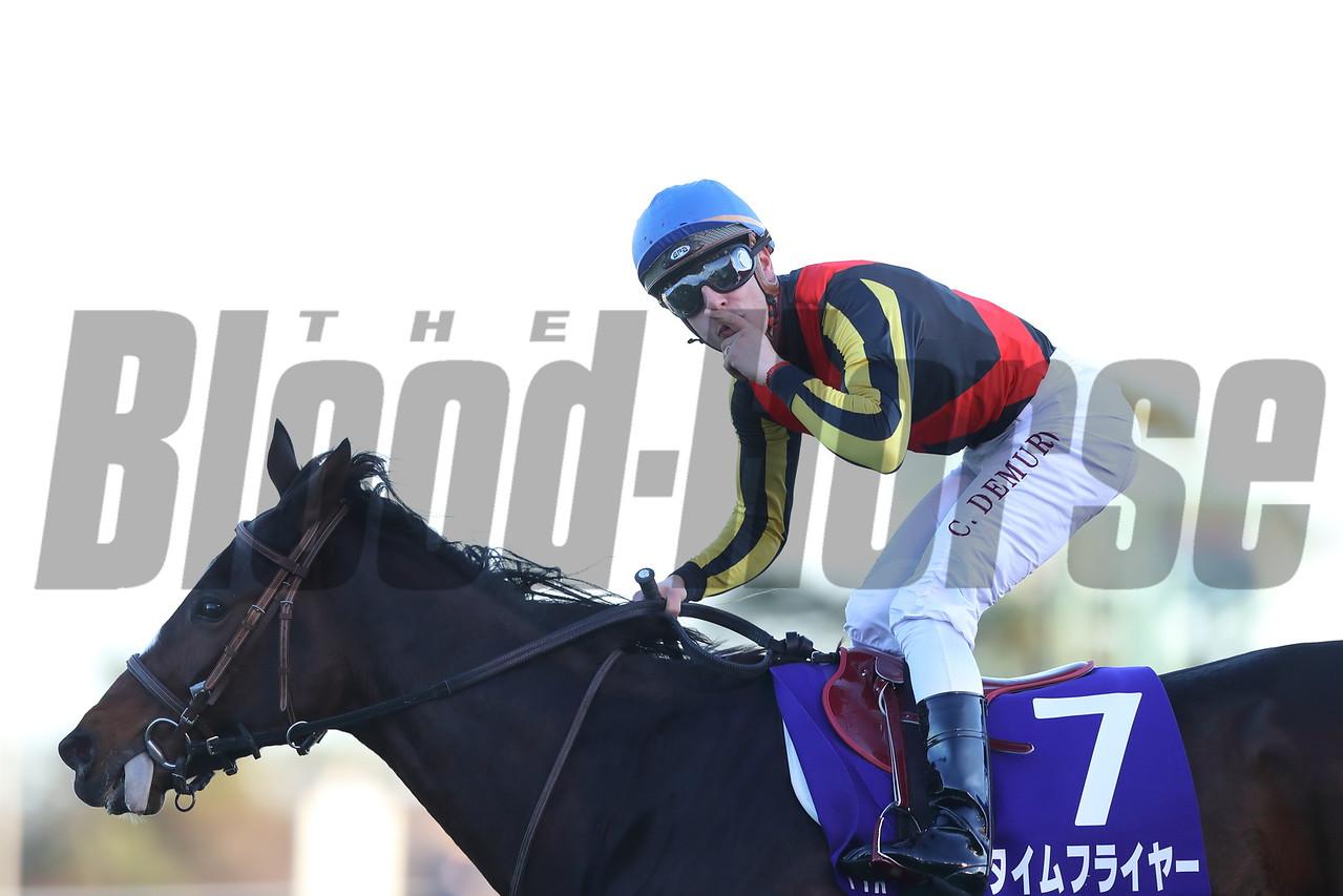 Time Flyer(JPN), Cristian Demuro, Hopeful Stakes, G1, Nakayama Racecourse, December 28 2017