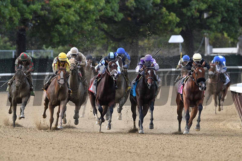 Firenze Fire wins the 2017 Champagne Stakes<br /> Coglianese Photos/Robert Mauhar