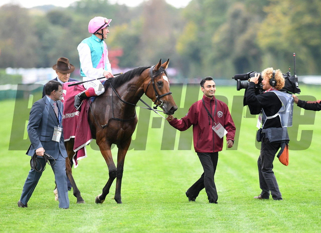 Enable wins the 2017 Qatar Prix de l'Arc de Triomphe (G1), photo by Mathea Kelley