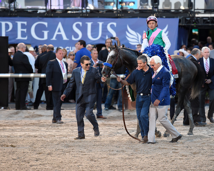 Arrogate wins the 2017 Pegasus World Cup<br /> Coglianese Photos/Susie Raisher