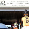 Girvin heading to the track prior to winning the 50th Running of the Haskell Invitational (GI) at Monmouth Park on July 30, 2017. Photo By: Chad B. Harmon