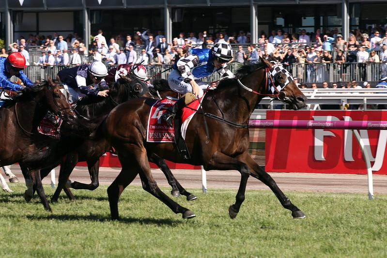 Tosen Stardom, Damien Lane, trainer Darren Weir, Emirates Stakes, G1, Melbourne, November 11 2017