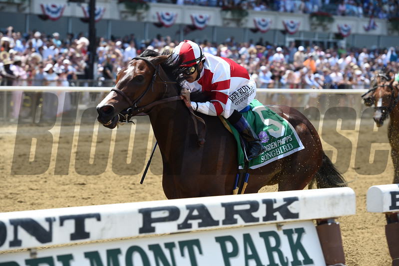 Songbird wins the 2017 Ogden Phipps Stakes<br /> Coglianese Photos/Joe Labozzetta
