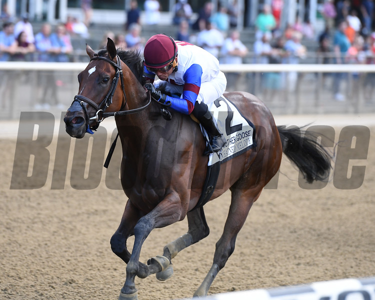 Unchained Melody wins the 2017 Mother Goose<br /> Coglianese Photos/Joe Labozzetta
