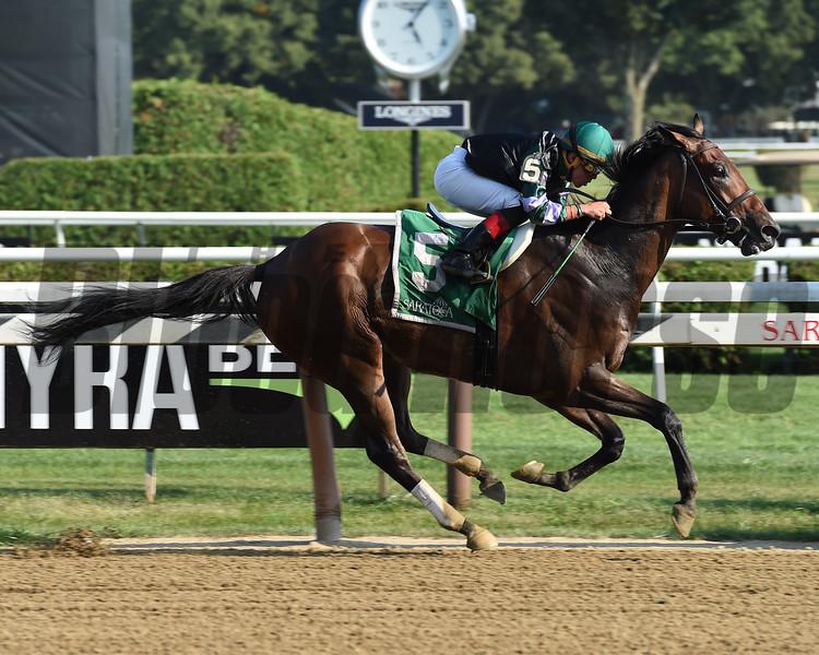 Diversify wins the 2017 Evan Shipman Stakes