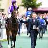 Happily and Ryan Moore went the Qatar Prix Jean-luc Lagardere at Chantilly Race Course, Chantilly France, photo by Mathea Kelley