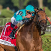 Lady Eli with jockey Irad Ortiz Jr. wins the 29th running of the Woodford Reserce Ballston Spa at the Saratoga Race Course in Saratoga Springs, N.Y.  (Skip Dickstein