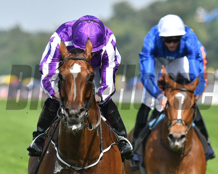 Hightland Reel and Ryan Moore win the Group One Prince of Wales's Stakes, Royal Ascot, Ascot, UK 6/21/17, photo by Mathea Kelley