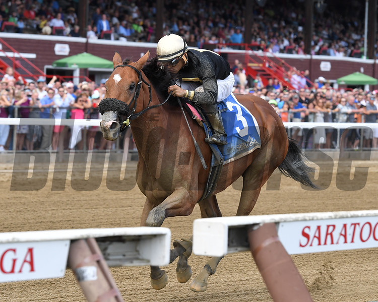Aveenu Malcainu wins the 2017 Funny Cide Stakes<br /> Coglianese Photos/Joe Labozzetta