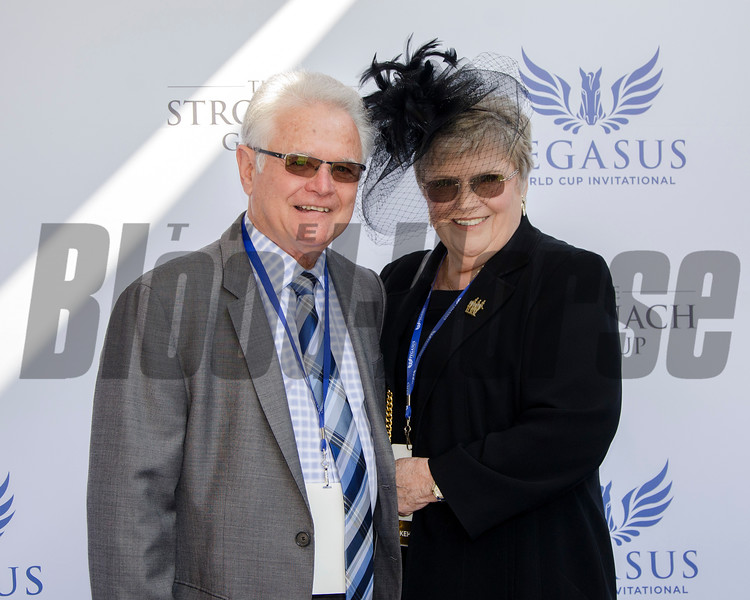 Art Sherman, trainer of California Chrome, and wife Faye, 2017 Pegasus World Cup