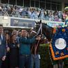 winner's circle; Always Dreaming; Johnny Velazquez; Xpressbet Florida Derby; Gulfstream Park; April 1; 2017