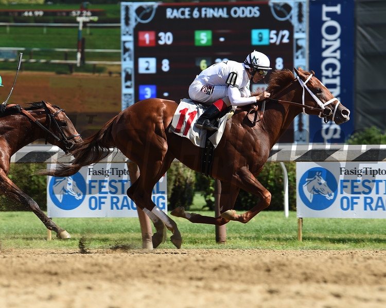 National Flag - Maiden Win, Saratoga, August 5, 2017<br /> Coglianese Photos