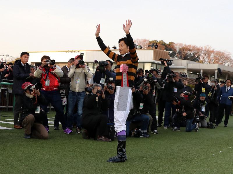 Kitasan Black wins the 2017 Arima Kinen<br /> Naoji Inada Photo