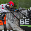 Jockey Manuel Franco rides World Approval to the finish to win the 33rd running of The Fourstardave at the Saratoga Race  Course Aug. 12, 2017  in Saratoga Springs, N.Y.  (Skip Dickstein